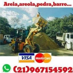 Depósito de mineral: areia lavada e areola