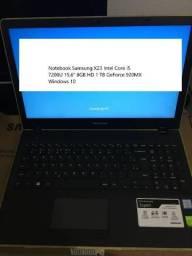 """Notebook Samsung X23 Intel Core i5 7200U 15,6"""" 8GB HD 1 TB GeForce 920MX Windows 10"""