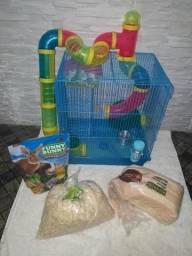 Gaiola para Hamster e bolsa para transportar