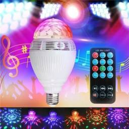 Lampada colorida Led Giratoria Rgb Bluetooth/ musical com controle