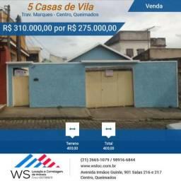 Vila de casas para Venda, Centro - Queimados / RJ ( Imóvel com RGI)