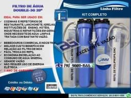 """Filtro Purificador de Água Double 3G 20""""-Entrega e Instalação Grátis"""