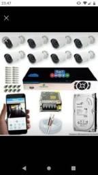 Câmeras e sistema de segurança