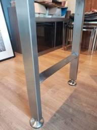 Pés / base de mesa em aço inoxidável