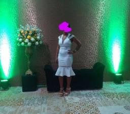 Vestido Branco tubinho social