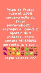 Polpas de frutas 100 % NATURAL