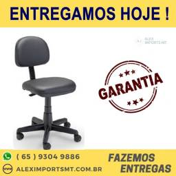 Cadeira na Cor Preta Giratória sem Braço Secretária Eco Plaxmetal c/ Ajuste cuiaba