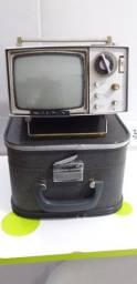 Rara Micro Tv Sony Anos 60 Com Case
