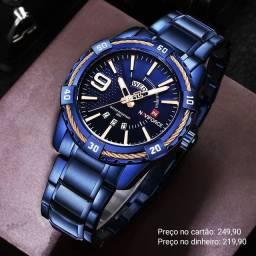 Relógio masculino importado original Naviforce de qualidade excepcional