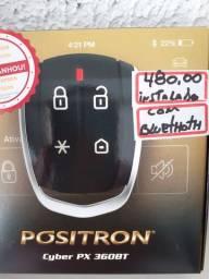 Alarme positron Cyber PX 360BT novo com garantia instalado em seu carro