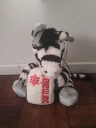 Pelúcia Zebra - Coleção Mamíferos da Parmalat