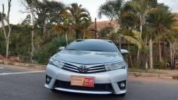 Toyota Corolla prata automático completo motor 2.0 ano 2016