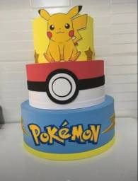 Vendo decoração do Pokémon
