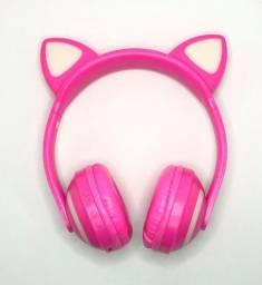Fone de Ouvido Sem Fio Orelha De Gato Headphone Bluetooth com Led XLS Novo na Caixa