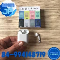 Fone sem fio i12 Bluetooth