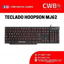 Teclado Gamer Semi-mecânico Hoopson Mj62, Com NF. Loja Física.