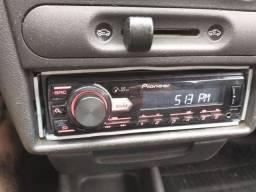 MP3 pionner com USB e entrada auxiliar