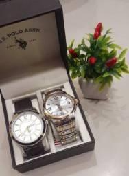 U.S. Polo Assn. Conjunto de dois relógios *Original* Novo