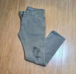 Calça jeans verde John John
