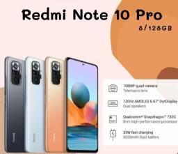 Note 10 Pro Preto/Dourado 6+128Gb (Ler a descrição)