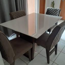 Mesa de jantar 4 cadeira laka//entrega e montagem na hora