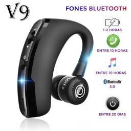 Fone De Ouvido Sem Fio V9 Bluetooth Bateria Grande Capacidade Duração  - Até 10hs