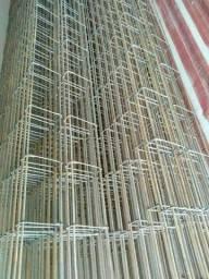 Coluna, vara de ferro, estribos, radier, tela, vigas, cintas etc
