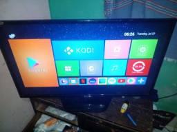 Tv LG 42 pol com tv box