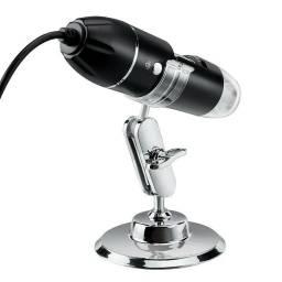 3 Em 1 Usb Microscópio Digital 1600x Com 8 Led / Câmera Endoscópio Portátil
