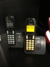 Vendo aparelho telefone sem fio Panasonic 6,0 com viva voz