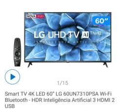 TV 60 LG SMART 4K LACRADA COM NOTA
