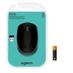 Mouse Logitech M170 Sem Fio Preto e Cinza ou Prata