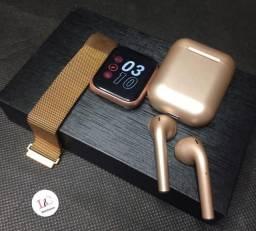 Smartwatch P80 + i12 Metálico