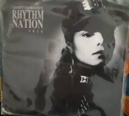 JANET JACKSON'S - Rhythm Nation - Disco Vinil Reliquea Album zerado
