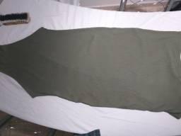 vestido longo canelado verde    tamanho GG da C&A