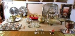 Só pratas bandejas, fruteiras, centros de mesa e muito mais, valores na descrição