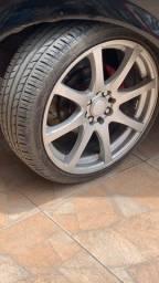 Troco aro 17 com pneus novos por aro 15 *
