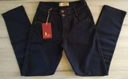 Calça Feminina Reta Moto Skinny All Jarreau Jeans