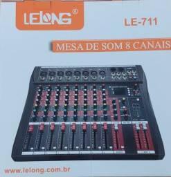 Mesa de Som Lelong le 711 8 canais