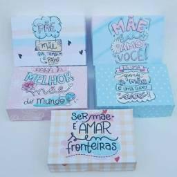 Caixas personalizadas Dia das mães