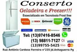 Conserto e Manutenção de Geladeira e freezer