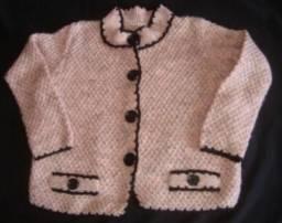 Casado de tricô feito a mão