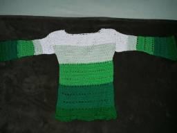 Blusa infantil de crochê (linha)
