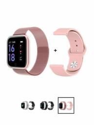 Smartwatch P68 com pulseira de brinde