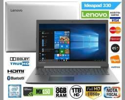 "Notebook Lenovo 330 Core i5 8GB, HD 1TB, Tela 15.6"", Geforce, Novíss, Cx, NF, Gar Troco"