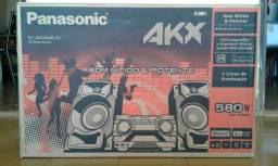 Mini System SC-AKX440LBK 580W RMS 3 meses de uso com 6 meses de garantia e nota fiscal