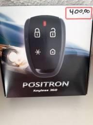 Alarme positron keyless 360 novo com garantia instalado em seu carro