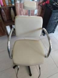 Cadeira hidráulica  para cabeleireiro