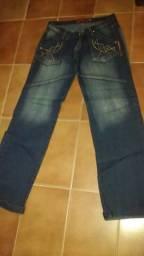 Calças bem conservadas feminina e masculina (baixei)