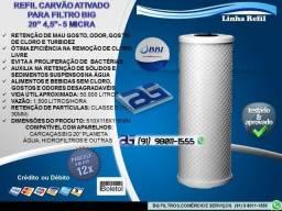 """Refil Carvão Ativado para Filtro BIG - 20"""" x 4,5"""" 5 Micra-Entrega Grátis"""
